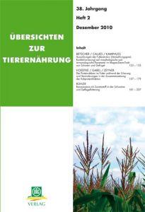 Übersichten zur Tierernährung 2/2010
