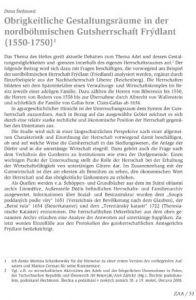Obrigkeitliche Gestaltungsräume in der nordböhmischen Gutsherrschaft Frýdlant (1550-1750)