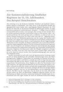 Zur Kommerzialisierung ländlicher Regionen im 15./16. Jahrhundert. Das Beispiel Ostschwaben