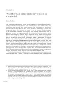Was there an industrious revolution in Catalonia?