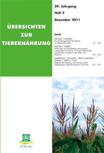 Übersichten zur Tierernährung 2/2011