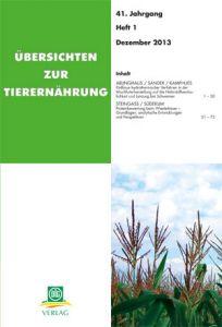 Übersichten zur Tierernährung 1/2013