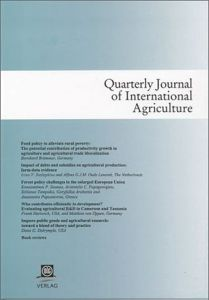 Quarterly Journal of International Agriculture 1/2014