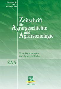Zeitschrift für Agrargeschichte und Agrarsoziologie 2/2014