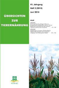 Übersichten zur Tierernährung 2/2013