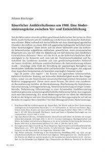 Bäuerlicher Antiklerikalismus um 1900. Eine Modernisierungskrise zwischen Ver- und Entkirchlichung