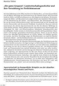 """""""Ein gutes Gespann"""". Landwirtschaftsgeschichte und ihre Vermittlung im Freilichtmuseum"""