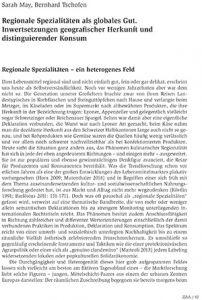 Regionale Spezialitäten als globales Gut. Inwertsetzungen geografischer Herkunft und distinguierender Konsum