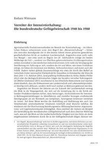 Vorreiter der Intensivtierhaltung: Die bundesdeutsche Geflügelwirtschaft 1948 bis 1980
