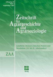 Zeitschrift für Agrargeschichte und Agrarsoziologie 2/2017