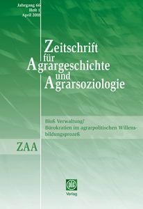 Zeitschrift für Agrargeschichte und Agrarsoziologie 1/2018