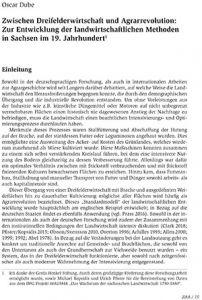 Zwischen Dreifelderwirtschaft und Agrarrevolution: Zur Entwicklung der landwirtschaftlichen Methoden in Sachsen im 19. Jahrhundert (PDF Download)
