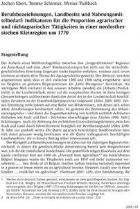 Berufsbezeichnungen, Landbesitz und Nahrungsmittelbedarf: Indikatoren für die Proportion agrarischer und nichtagrarischer Tätigkeiten in einer nordosthessischen Kleinregion um 1770