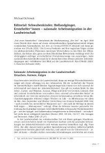 Editorial: Schwabenkinder, Hollandgänger, Erntehelfer*innen – saisonale Arbeitsmigration in der Landwirtschaft